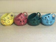 Lot of 8 Vintage Livingware Collection 3D Nose Smiley Funny Faces Mugs & Bowls