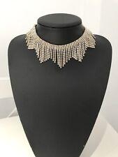 Gold Choker / Necklace Diamanté / Bridal Brand New *Uk Seller* FREE Postage