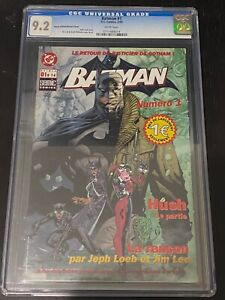 BATMAN 608 CGC 9.2 RETAILER INCENTIVE FRENCH EXCLUSIVE VARIANT RRP JIM LEE EURO