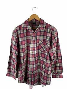 Urban Supply Button Up Mens Flannel Shirt Size S Red Check Long Sleeve Collared