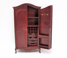 Jiayi 1:12 Dollhouse Armadio a scomparti mogano - mahogany notions armoire LAST