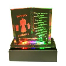 Led Lights Worry Angle Gifts Box Anxiety Stress Prayer Trouble Times Plaque