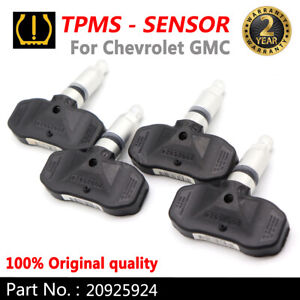 4PCS 20925924 Tire Pressure Sensors For Chevrolet GMC Buick Saturn Cadillac