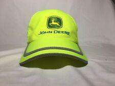 John Deere Cap Hat Neon Lime Green National Landscape Beach Garden One Size VGC