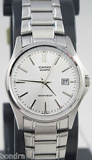 Casio LTP1183A-7A Ladies Silver Analog Watch Steel Band Date Display New