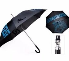 VERSACE MEDUSA EXECUTIVE UNISEX LARGE UMBRELLA BLUE BLACK SILVER W/O TAG. NEW