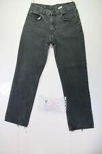 Levis Boyfriend Cod. Y1764 tg47 W33 L32 vaqueros usado Vintage Negro Streetwear