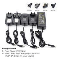 AC/DC 5V 12V 24V 1A/2A/3A/4A/5A/8A Power Supply Adapter Transformer Charger Tsl