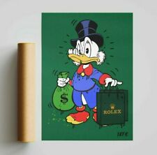 More details for scrooge mcduck x rolex (poster print) alec monopoly inspired - pop wall art