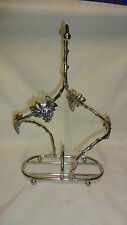 Vintage French Silea Silver Plated Decorative Double/Twin Wine Bottle Holder