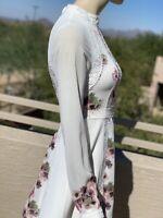 Irregular Ted Baker Lace Trim Chiffon Mini Dress
