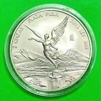 2013 2 oz Silver Libertad 2 Onzas Plata Pura Bullion Coin in Capsule Mexico Coin