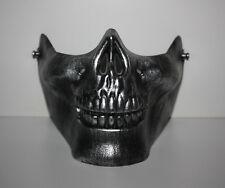 maske-skull in silber-helloween-karneval-theater-maskenball-party-biker-ovp-neu