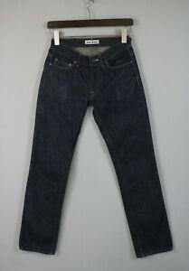 ACNE Jeans MIC RIGID Men's W28/L32 Zip Fly Dark Blue Jeans JS15197