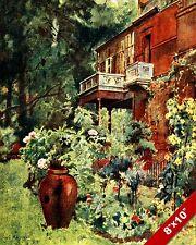 LEIGHTON HOUSE ENGLAND ENGLISH COUNTRYSIDE LANDSCAPE ART PAINTING CANVAS PRINT