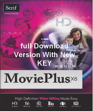 Serif Movie Plus X6 (full Download version) Works With Windows 10,8.7.xp