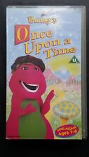 Barney's Once Upon A Time Sing Along Ages 1-6 VHS Video UK 1997
