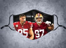 SF Niner Empire Bosa Kittle face mask cover limited edition 49ers san francisco