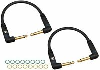 Planet Waves Custom Series Patch Cable, 2-pack, Right Angle, 6 Inches