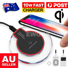 For APPLE iPhone XS MAX XR Samsung S10 S9 QI Wireless Charger Charging Pad Mat
