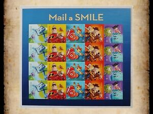 US Scott 4677 Mail a Smile Disney Pixar Movies MNH Sheet of 20 Forever Stamps