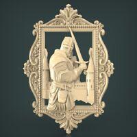 (1025) STL Model Knight for CNC Router 3D Printer Artcam Aspire Bas Relief