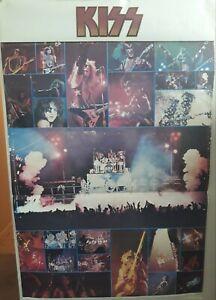 Rare Original Kiss Poster 1976 Rock Steady Management Boutwell Enterprise