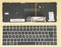 For HP Envy 4-1080eo 4-1090eo 4-1101eo Keyboard Nordic ND backlit Silver frame