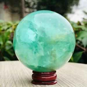 375g  Top Natural Colour Fluorite Quartz Sphere Crystal Ball Healing DLC924