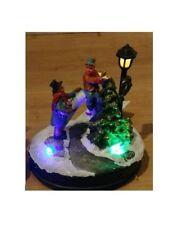Weihnachtsszene, Winterdorf, Weihnachtsdorf, Lemax, Wurm, LED Beleuchtung 1