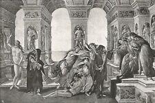 D0131 Botticelli - La Calunnia - Stampa d'epoca - 1930 old print