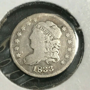 1833 Capped Bust Half Dime VG