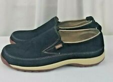 NEW Simple black leather suede slip on womens shoes SZ 8.5M