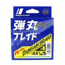 Dangan Braided Line X8 200m P.E 0.8 Green Db8-200/0.8gr/16lb (5997) Major Craft