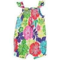 Carters Bold Tropical Flower Cotton Bubble Sunsuit Romper One Piece 3 6 18Mo NWT