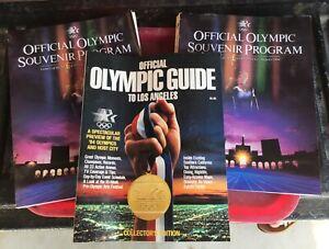 Lot of 3 Official 1984 Olympics Souvenir Programs