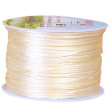 1.0mm Nylon Cord Thread Chinese Knot Macrame Rattail Bracelet Braided String 10M
