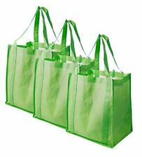 Reusable Grocery Tote Bags Heavy Duty Shopping Bags Set of 3 Large Washable