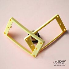 2 CONTOURS HUMBUCKER EPIPHONE CREAM Pickup Mounting Rings set ARCHED Top Bottom