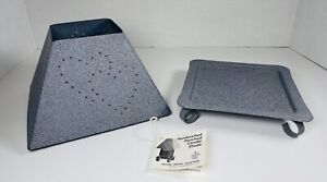 America's Best Handcrafted Tin Punched Heart Candle Shade & Square Base 1995