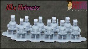 10x Primaris Roman Command Legionary Helmets - Warhammer WH40k space marine