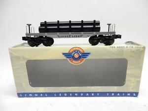 LIONEL 6-26045, 2411 FLAT CAR WITH PIPES, C-9  MINT IN ORIGINAL BOX
