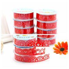 New 1pc Roll Lace Paper Adhesive Washi Tape Sticker Masking Craft Decorative DIY
