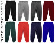 JOGGING BOTTOMS - Kids Warm Fleece Style Plain Joggers Bottom Pants 2 - 14 Years