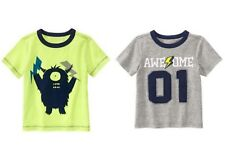 Gymboree NWT Boys 3T Lightning Quick Tops Shirt Bolt Alien AWESOME Set of 2