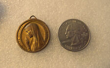 Vintage Religious antique sterling silver gold plate Medal -undefined metal #109