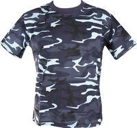 Army T Shirt Midnite MID NIGHT Camoflage CAMO SAS PARA