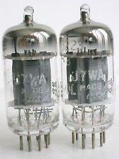 matched pair TUNG-SOL JTL- 6189 / 12AU7 WA 17mm long plates D getter = ECC82