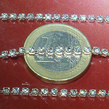 2 Metros Cadena Con Strass 2,5mm A161 Aluminio Chain Rhinestone Catena Kette