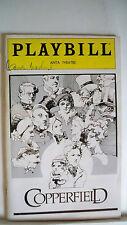 COPPERFIELD Playbill CARMEN MATHEWS Autographed NYC FLOP MUSICAL 1981